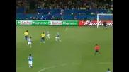 Италия 0:3 Бразилия (купата на Конфедерациите всички голове луд коментатор )