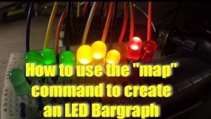 How to use the Arduino Map Command to create a Bargraph