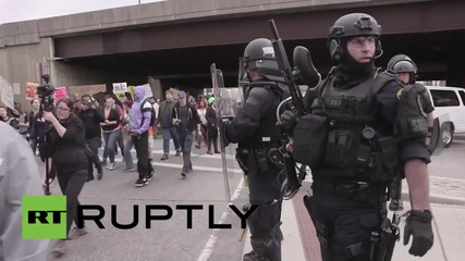 USA: May Day protesters swamp Baltimore as Freddie Gray officers charged