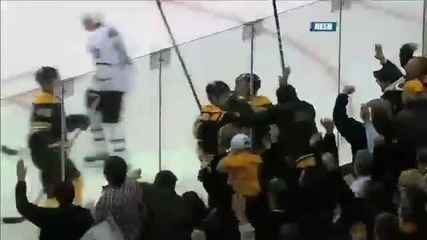 Boston Bruins And Dallas Stars Have 3 Fights In 80 Seconds !!!! February 3 2011