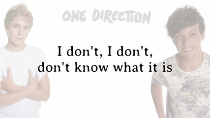 One Direction - One Thing ( Lyrics )