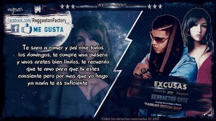 Превод ! Farruko Ft Dayana - Еxcusas- (letra) new Romantic Reggaeton 2013dale Me Gusta✔