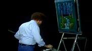S12 Радостта на живописта с Bob Ross E08 - водопат през вечерта ღобучение в рисуване, живописღ