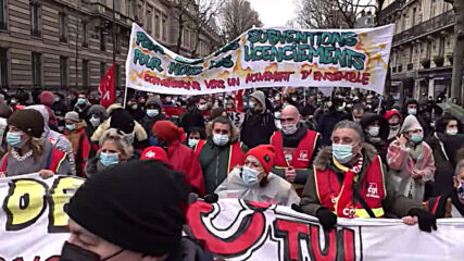 France: Protesters hit Paris for rally against job losses