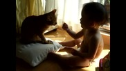 Коте и бебе пораснало 4