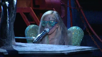 Lady Gaga - Poker Face & Speechless feat. Elton John live[grammy Awards 2010 - Hd]