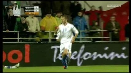 Естония - Италия 1:2