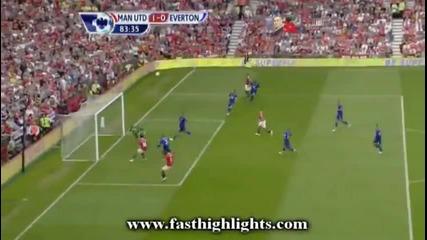 Manchester United 1-0 Everton (hernandez goal)