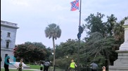 Woman Pulls Down Confederate Flag at South Carolina State House