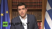 Greece: Tsipras calls on Greek people to vote 'no' in bailout referendum