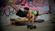 Свръхчовешка тренировка 2 ... Момче и момиче много силна комбинация !!!