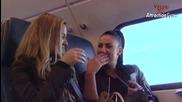 Скрита камера - порно във влака