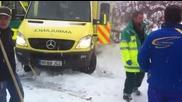 Subaru помага на закъсала линейка !!!