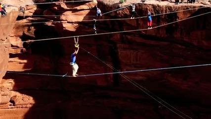 Ходене по въже на екстремни места
