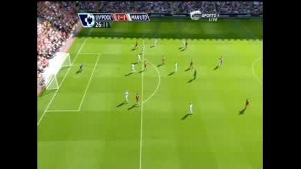 Манчестър Юнайтед 1:2 Ливърпул -Wes Brown Си Вкарва Автогол