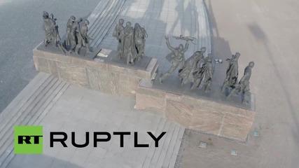 Русия: Дрон заснема паметника на защитниците на Ленинград