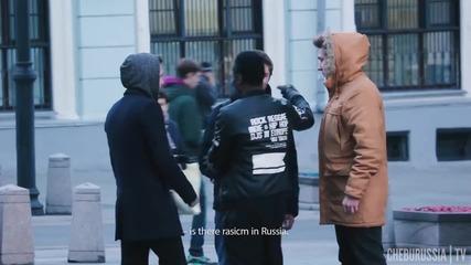 Как реагират в Русия на побой над чернокож .. Социален експеримент