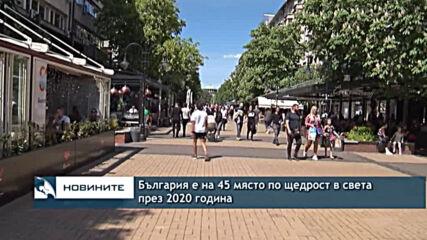 България е на 45 място по щедрост в света през 2020 година