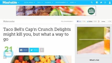 Taco Bell + Cap'n Crunch = DELICIOUS