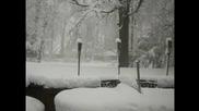 Как се натрупва снега!