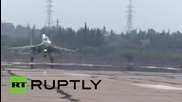 Syria: Sukhoi Su-27 fighter jets conduct sorties against militant positions from Latakia