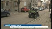 Баба с бъги кръстосва улиците на Благоевград