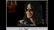 Michael Jackson Heal the World karaoke songs online How to play piano tutorial