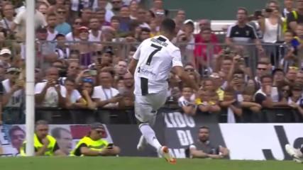 Първи гол за Роналдо с отбора на Ювентус