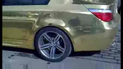 Златно Bmw M5