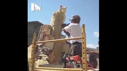 Красота! Правене на дървена скулптура със режачка