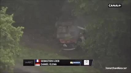 Катастрофата на Себастиан Льоб на Рали Франция 2013
