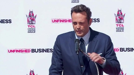 Vince Vaughn Has 'Unfinished Business' At Hand and Footprint Ceremony