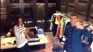 Роналдо се забавлява със супермодел