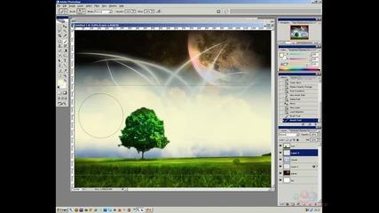 Въздействащ wallpaper с фотошоп