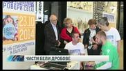 Футболистите от Лудогорец в кампания за чисти бели дробове