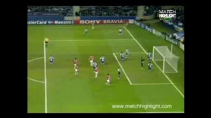 Порто - Арсенал 2:1 Гол На Сол Кемпбъл