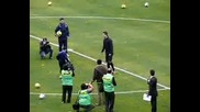 Дете се подигра с Кристяно Роналдо