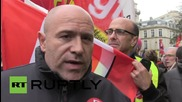 France: 'Ripped shirts aren't violent, job cuts are!' - Air France protesters