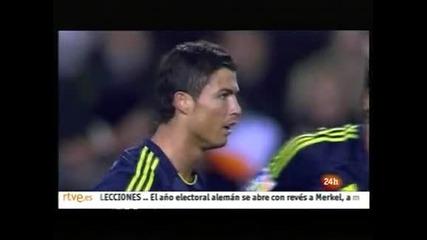 """""""Реал"""" (Мадрид) срази """"Валенсия"""" като гост с 5:0, Роналдо с 300 гола в кариерата"""