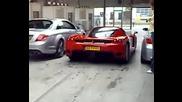 Mercedes Cl65 Amg + Ferrari Enzo + Bmw M5