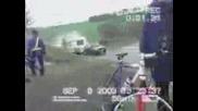 Инцидент На Малка Кола С Каравана По Нагорнище