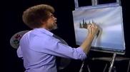 S08 Радостта на живописта с Bob Ross E05 - ловно убежище ღобучение в рисуване, живописღ