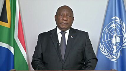UN: RSA's Pres Ramaphosa calls for 'fair and equitable distribution' of vaccines