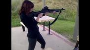 Girl shoots Hatsan Mp Tactical Shotgun