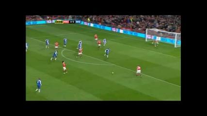 Манчестър Юнайтед - Уигън 2 - 0 Всички голове * 20 . 11 . 10 *