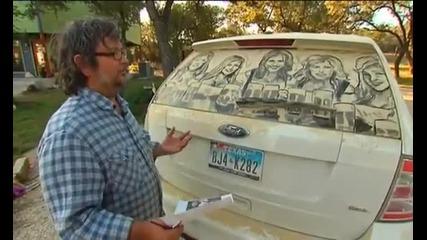 Рисуване върху кола