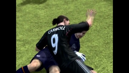 Fifa 12 Бъг- Целувка между Andy Carroll и Fabianski _-_ Смях