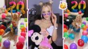 Тийн любимката Лидия стана на 20, изненадаха я с шампанско и десетки балони