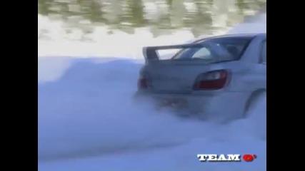 Subaru Impreza snow drift