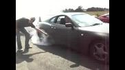 Toyota supra Burnout (ще се Задимите)